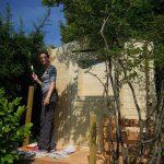 Das Gartenhaus bekommt Farbe!