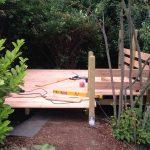 Unterkonstruktion für das Gartenhaus