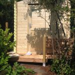 Fast fertiges Gartenhaus