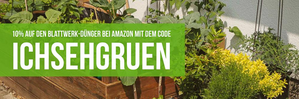 Gutschein für Blattwerk Dünger bei Amazon