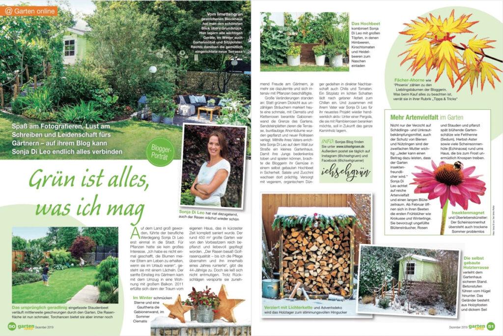 Bloggerporträt in der Gartenspaß-Ausgabe Dezember 2019