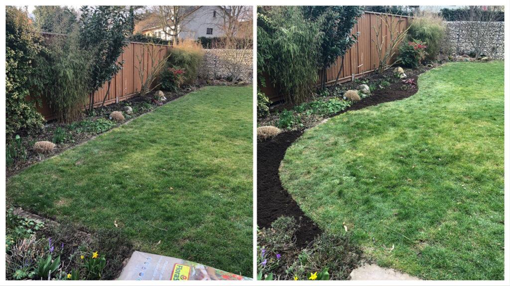 Rasenkante - aus gerade mach rund