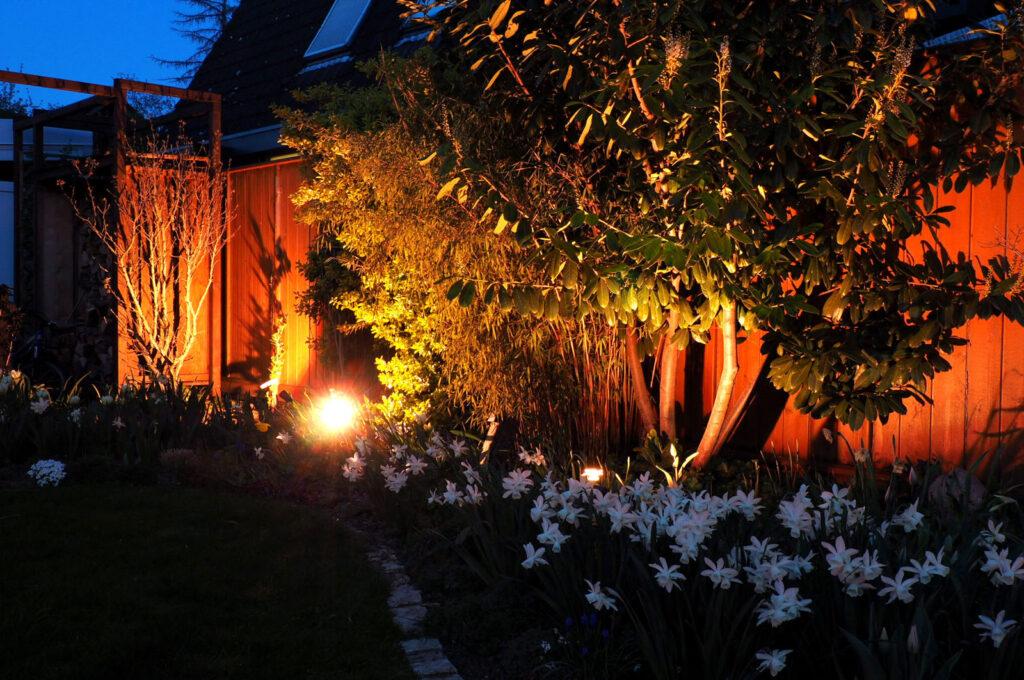 Smarte Gartenbeleuchtung